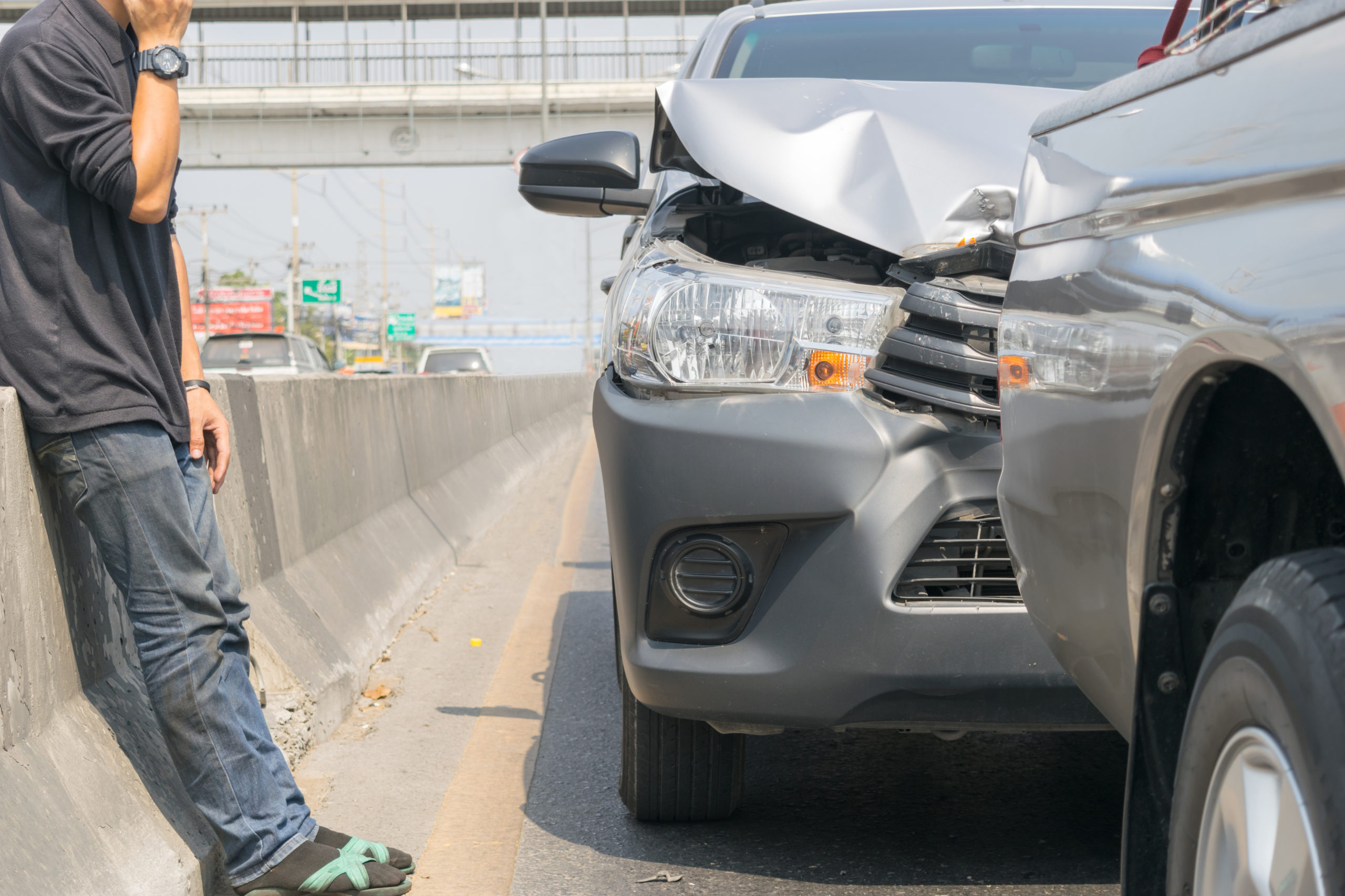 car accident gray